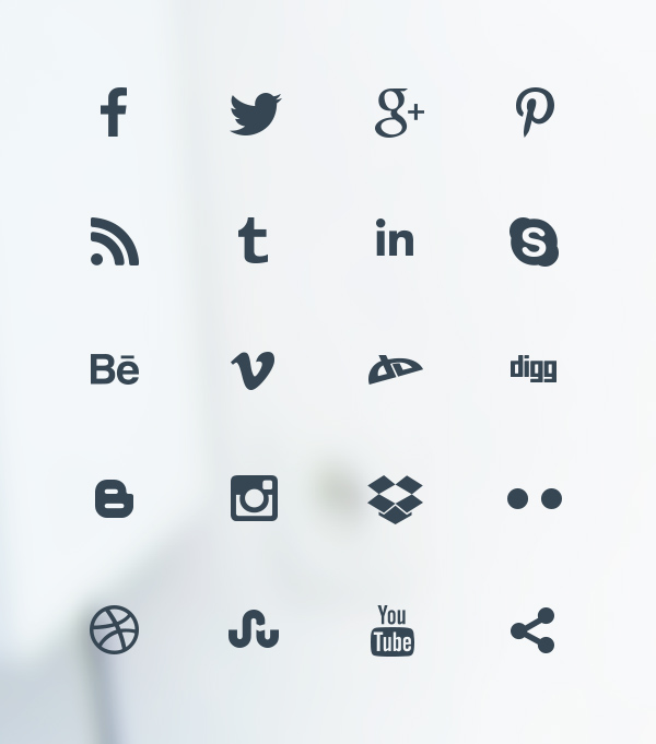 clean social media icons alienvalley