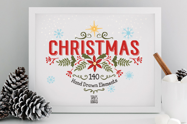 140 Christmas Elements