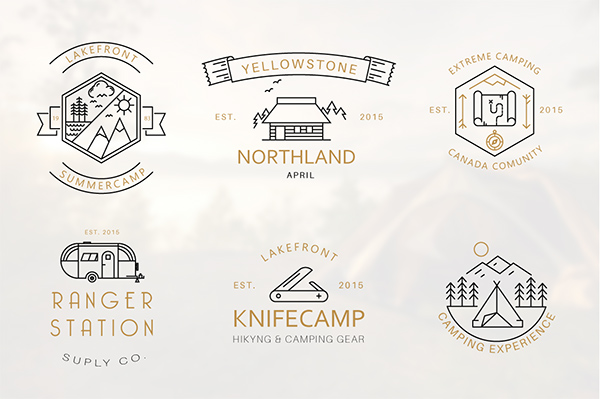 Camping Logo Badges