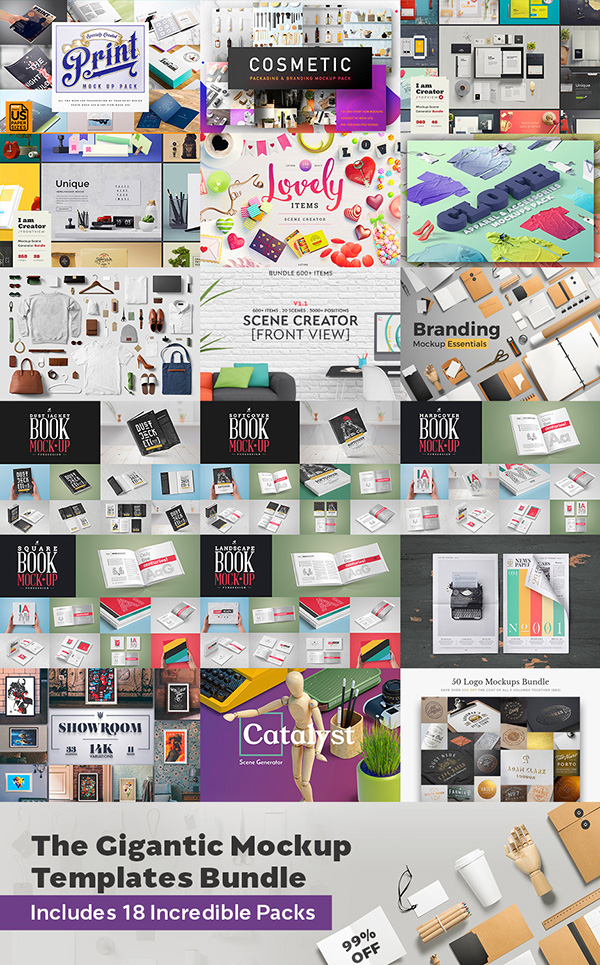 Gigantic Mockup Bundle