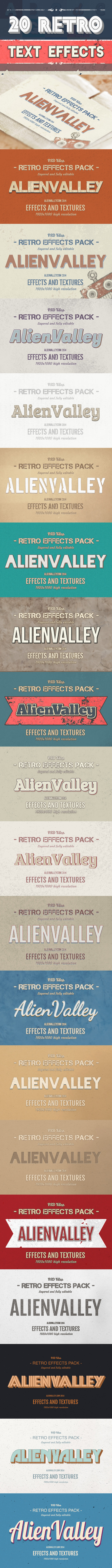 20 Retro Text Effects